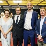 v.l.: Alexander Fehling, Antje Traue, Mathias Matschke, Kilian Riedhof, Dr. Niclas Krauss
